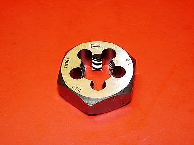 "Irwin 6954 M16 X 1.0 Metric 1.4"" Hex Rethd Cut Die 16MM Carbon Steel 1"" USA RH"