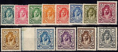 Transjordan 1927-29 set of 13 SG159-171 Fine & Fresh Mtd Mint (100m MNH)