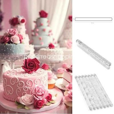HYE120 Patterns Acrylic Rolling Pin Cake Fondant Embossing Textured Baking Tools