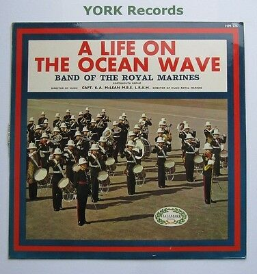 BAND OF HM ROYAL MARINES - A Life On The Ocean Wave - Ex Con LP Record Hallmark