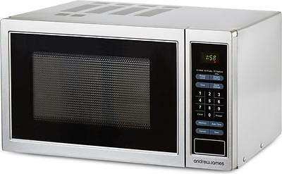 Microwave Oven 900W Digital Silver Stainless Steel 23 Litre By Andrew James