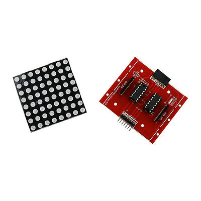 MAX7219 8x8 LED Dot Matrix F5 Seamless Display Module For Arduino Blue+Black