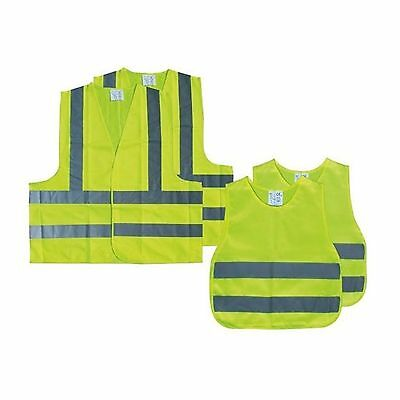 The AA - Family Pack of 4 x High Visibility Vests - 2 x Adult & 2 x Child