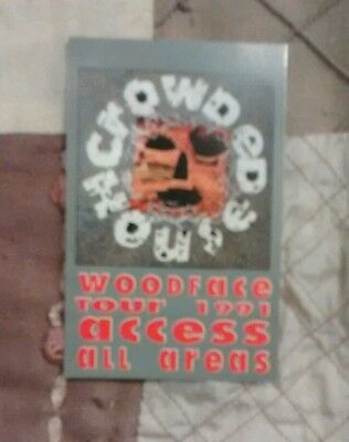 Crowded House 1991 Wood Face Tour Backstage Pass OTTO Unlaminated Card