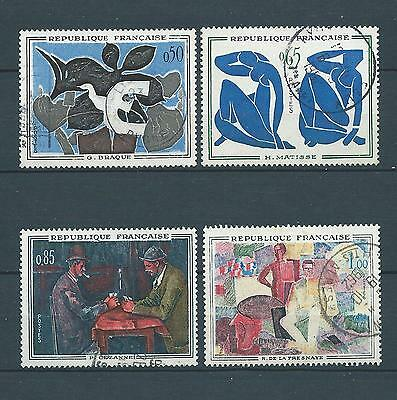 TABLEAUX d' ART - 1961 YT 1319 à 1322 - TIMBRES OBL. / USED