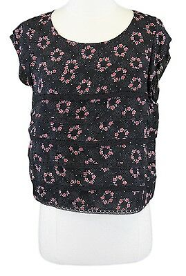 a07c0427b16 FREE PEOPLE Women's Multi-Color Floral Ruffled Layered Crop Top Sz Small  NWOT