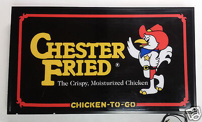 Giles Chester The Crispy Fried Chicken Store Light Up Sign,Wall Mount or Hanging
