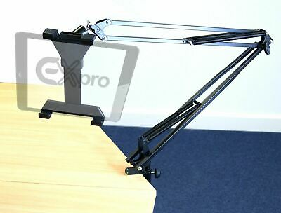 Universal Adjustable Swing Arm Tablet Holder, Table Desk Mount for TABLETS