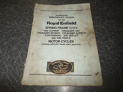 Workshop Maintenance Manual ROYAL ENFIELD Motorcycles (Several Models)