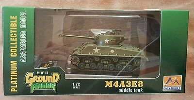 Easy Model WWII Ground Armour M4A3E8 Middle Tank  36257