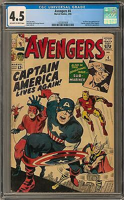 Avengers #4 CGC 4.5 (OW-W) 1st Silver Age CAPTAIN AMERICA Appearance