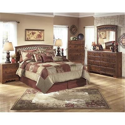 Ashley B258-92 Timberline Two Drawer Night Stand Warm Brown