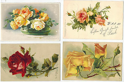 12 Art Cards of Catherine Klein, Roses, issued in Europe from 1900-1930s (12)
