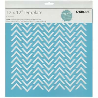 Kaisercraft T601 Template 12''X12''-Chevron