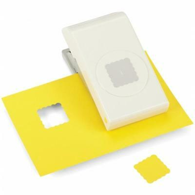 EK Success E5431005 Medium Punch-Scallop Square, 1''