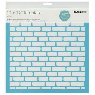 Kaisercraft T606 Template 12''X12''-Bricks