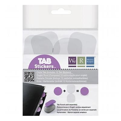 Tab Stickers 12/Pkg-Circle, 1.5''