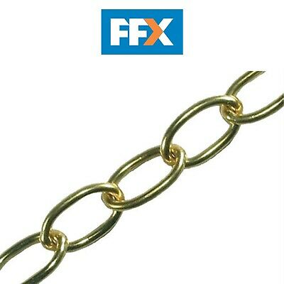 Faithfull FAICHOP23 Oval Chain 2.3mm 10M Polished Brass