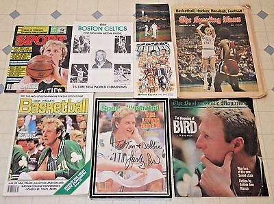 LARRY BIRD AUTOGRAPHED 1986 Sports Illustrated Magazine + Other Memorabilia