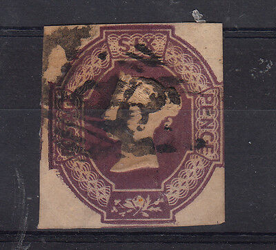1847-54 6D Mauve Nice Square Used Example