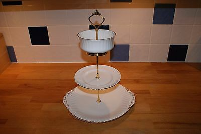Cake / Sandwich stand Vintage Paragon china (3 Tier)