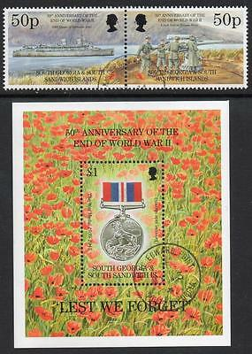 SOUTH GEORGIA CTO 1995 50th Anniversary of the End of the Second World War