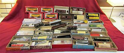 Huge Lot Of HO Scale Unbuilt and Built Model Kits Walthers Con-Cor Mantua