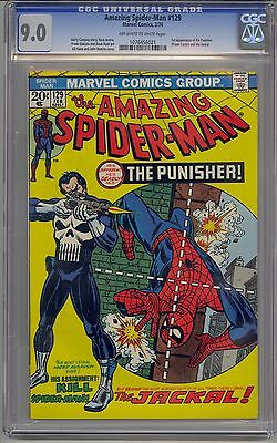 Amazing Spider-Man #129 Cgc 9.0 Off-White To White Pages 1St Punisher