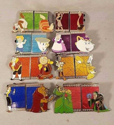 Beauty and the Beast 25 Enchanted Years Reveal Conceal Mystery Complete Pin Set
