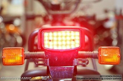 2003-2016 Honda Ruckus Scooter SEQUENTIAL Turn Signal LED Tail Light Smoked Lens