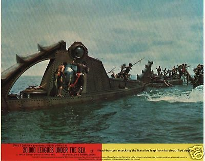 20,000 LEAGUES UNDER THE SEA  lobby cards - DISNEY, JAMES MASON, KIRK DOUGLAS