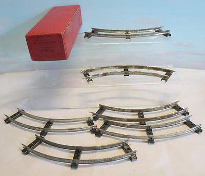 Hornby O Gauge M9 Curved Rails Half Dozen Boxed From 1950