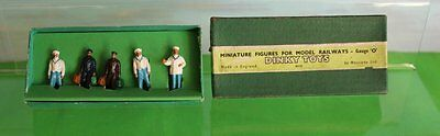 Dinky No 5 Train And Hotel Staff Figures Boxed O Gauge 1952