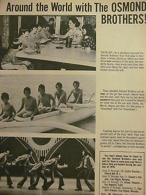 The Osmonds, Osmond Brothers, Donny, Full Page Vintage Clipping