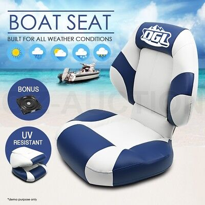 OGL New Premium Cruiser Marine Folding Boat Seat Fishing w/ Swivel All Weather