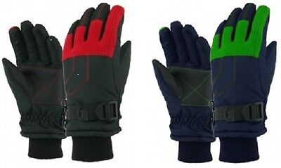Boys Kids Child Winter Ski Snow Snowboard Gloves Waterproof NWT 4-7 Years #54193