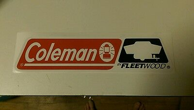 "Coleman Fleetwood Vintage style Tent Trailer decals 10-1/4"" set 2"