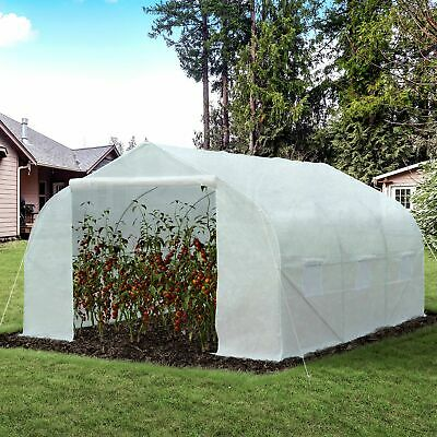 11'x10'x7' Portable Walk-In Greenhouse Solid Tunnel Green House Plant Gardening