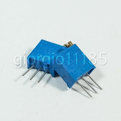 10 pcs 100 ohm 3296 3296W Trim Pot Trimmer Potentiometer Variable Resistors