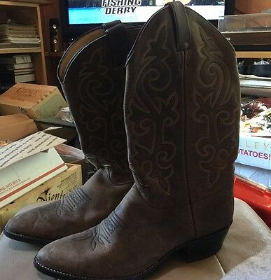 Justin #2251 Cowboy Boots mens size 10 EE Very Good Shape