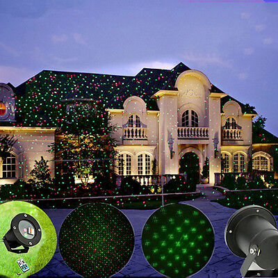 Garden Star Laser Christmas Motion Light Show Red & Green  Projector Yard Lights