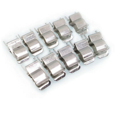US Stock 100pc 6 x 30mm Fuse Clip Fuse Holder Copper and Nickel Plated Fuse Base