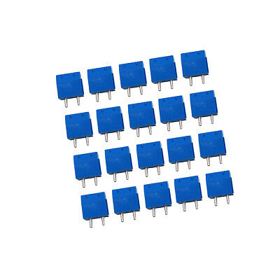 20x 5mm Pitch 2 pin 2 way PCB Screw Terminal Blocks Connector Blue