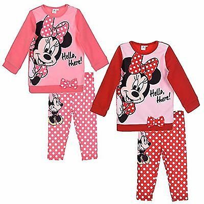 Disney Minnie Mouse baby Girl Warm OUTFIT SET Tracksuit Jumper Long Leggings NEW