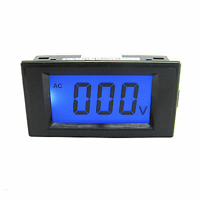 New Blue LCD Digital Volt Panel Meter Voltmeter AC 0~200V