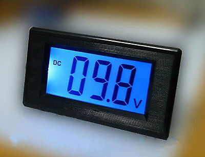 New Blue LCD Digital Volt Panel Meter Voltmeter DC 7~20V  Doesn't Require Power