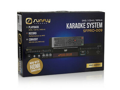 Sunfly Karaoke SF PRO009 Karaoke Player Professional CDG Player DVD HDMI USB REC