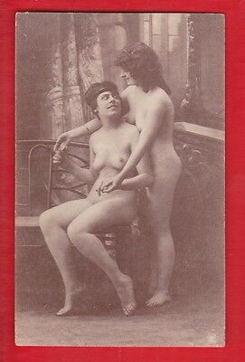 Glamour, Risqué nudes, Erotic French card.  1920's. G27