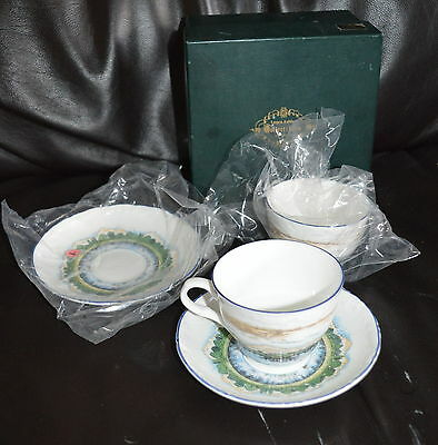 Laura Ashley Collectibles Cups & Saucers X 2, Box
