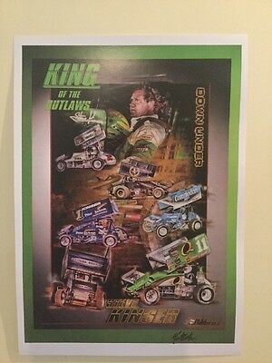 Steve Kinser King Of The Outlaws Print